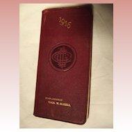 1916 Calender Book, Connecticut General Life Insurance