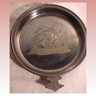 Nice Old  Victorian Silverplate Dish With Etching