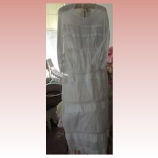 Victorian White Lawn  Day Dress