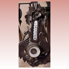 Beautiful Old Victorian Thermometer