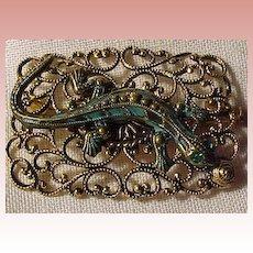 Unique Vintage Lizard Pin