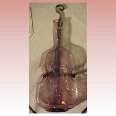 Victorian Lavender  Glass Hanging Violin