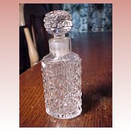 Vintage Pressed Glass Perfume Bottle