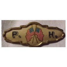 Patrons of Husbandry Celluloid Flag Pin