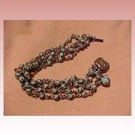 Pretty Vintage Bracelet With Blue Stones