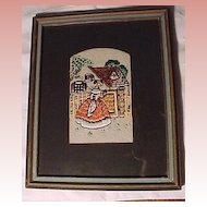 Unusual  Vintage Needlework Picture