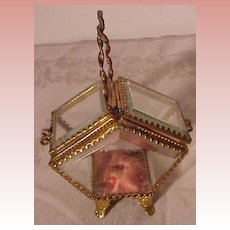 Victorian Beveled Jewerly Basket