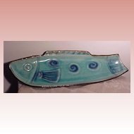 Enamelled Fish Plate