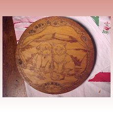 Flemish Art Cat and Dog Plaque