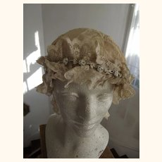 Very Large Silk and Lace Head Cover