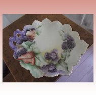 Fancy Grape Design Victorian Porcelain  Plate