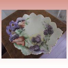 Fancy Grape Design Victorian Porcelain  Plate
