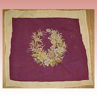 Deep Burgandy Needlework