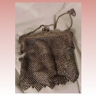 Victorian Mesh Purse With Reclining Ladies