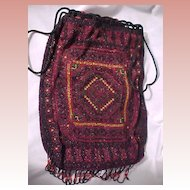 Beaded Bag with Indian Motif