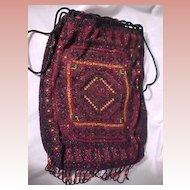 Beaded Bag with Indian Motif
