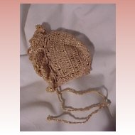 Vintage Crocheted Bonnet