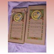 Calendar of Desserts