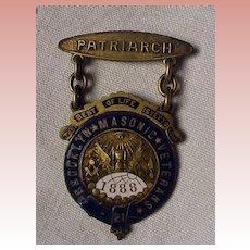 Brooklyn Masonic Pin 1888