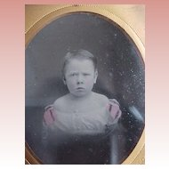 Tinted Civil War Ambrotype of Child