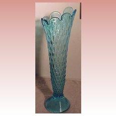 Beautiful  Vintage Blue Tall Vase
