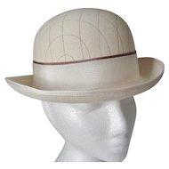 Cream Wool Felt Rolled Brim Hat -England