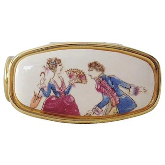 Vintage Painted Porcelain Makeup Brush Holder