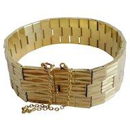 Vintage French Gold-plated Link Bracelet