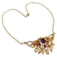 Coro Goldtone Pendant Necklace