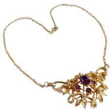 Coro Goldtone Pendant Necklace