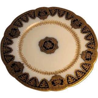 Haviland MAGNIFICENT Cobalt-Gold with MUSIC Symbols