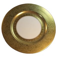Haviland: Exquisite Large Heavy Gold 10 Service Plates