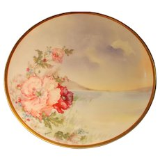 Haviland Handpainted Enameled Wild Roses: Berton
