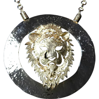 Large Lion Medallion Necklace