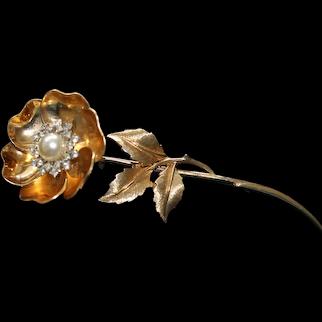 Marcel Boucher Mechanical Flower Brooch