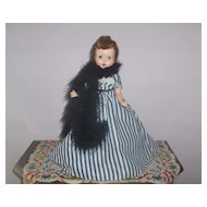 14in. Gibson Girl Hard Plastic Doll c. 1950s  All Factory Original Beautiful