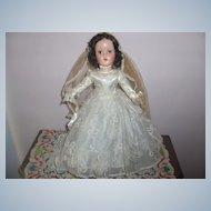 "MIB 14in. R & B ""Nanette Bride"" Doll  Hard Plastic  c.1950  Elegant Beautiful"