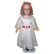 32in. Simon & Halbig #1079 German Bisque Antique Doll Fabulous Original Wig
