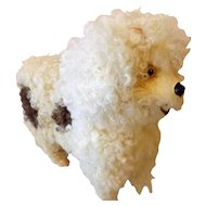 Victorian Roullet & DeCamps Walking French White Poodle Dog Large (works)  Fabulous