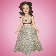 21 inch Beautiful Composition Ideal Deanna Durbin All Original, Mint  c.1940