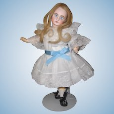 12 inch Belton Sonneberg German Bisque Doll closed mouth  Beautiful