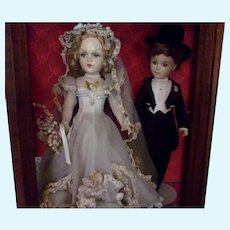 "Rare 21"" Madame Alexander  ""Royal Couple Bride & Groom Mint and Original"