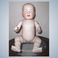 RARE  & LARGE 16in. ALL BISQUE Jointed German Baby  Fabulous