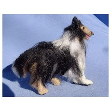 Border Collie salon dog Bru Kestner French fashion doll companion 4""