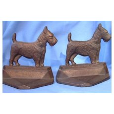 1929 SCOTTISH TERRIER cast iron  Scotty dog bookends