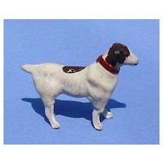 antique Papier Mache putz pointer salon dog French fashion doll Germany