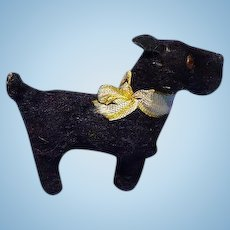 antique Scottish terrier Scotty Fripon salon dog French fashion doll companion Germany label