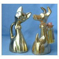 1950s perfume cat & JACK RUSSELL/Fox Terrier