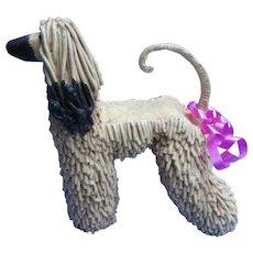 Afghan Hound hand made dog sculpture