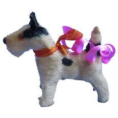 "Antique Fripon Fox Terrier salon dog Bru Kestner Bleuette French fashion doll companion Germany label 2"""